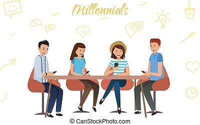 millenium, réseaux, utilisation, chaque, téléphones, social, génération, autre, communiquer