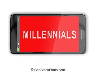 millennials, concepto, -, social