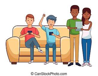 millennials, smartphones