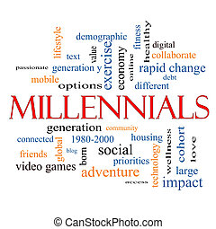 Millennials Word Cloud Concept with great terms such as ...