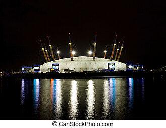 Millennium Dome at night