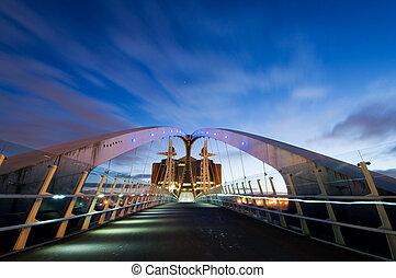 millennium most, manchester, zewnętrzny