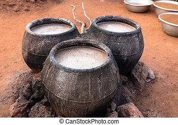 Millet beer tanks