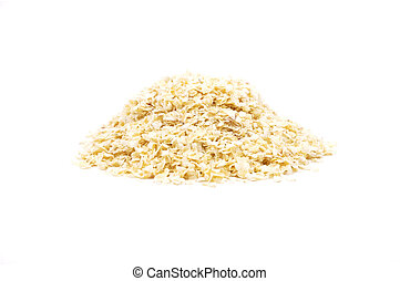 Millet flakes on white