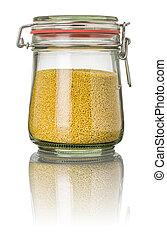 Millet in a jar