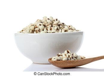 Millet on white background