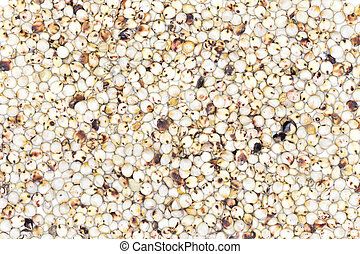 Millet rice, buckwheat texture and background uncooked raw...