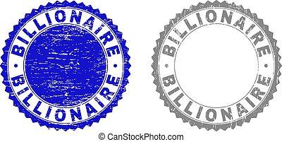milliardaire, timbres, grunge, textured