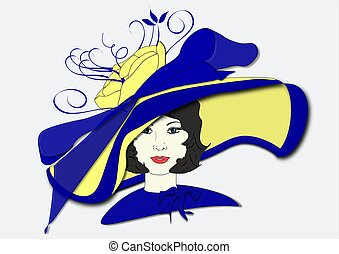 Millicent's Derby Day Hat - An illustration of a woman...