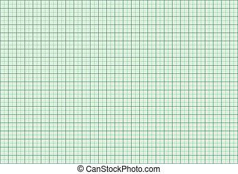 millimetro, grafico, verde, carta