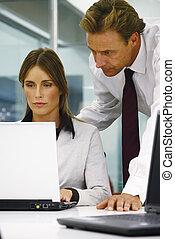 millimetro, ufficio, persone affari