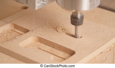 Milling machine handles wood
