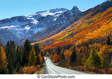 Scenic million dollar highway between Ourey and Silverton