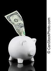 Million dollar saving - Piggy bank with a Million Dollar ...