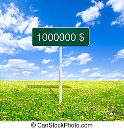 million dollars - money concept, made from my images and ...