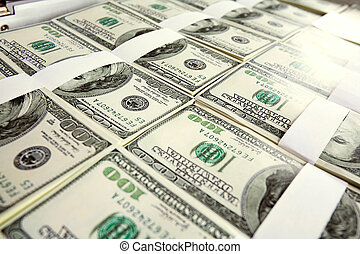 Million dollars - Close-up of million dollars made from lots...