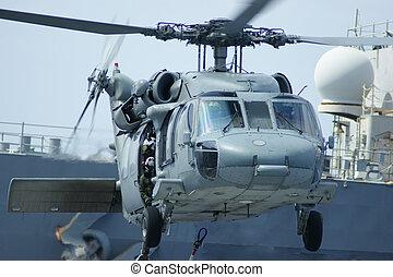 millitary, hélicoptère