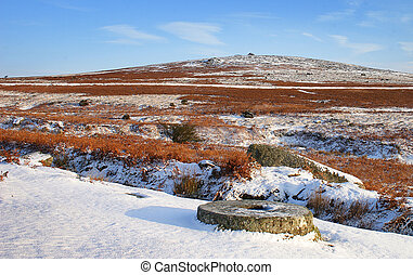 Millstone in the Snow