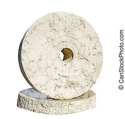 Millstone isolated on white background
