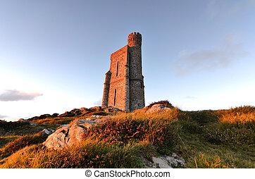 Milner Tower on Brada Head, Isle of Man, UK
