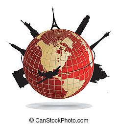 milstolpar, värld