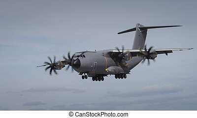 Miltary transport aircraft in flight - An airbus A400M Atlas...