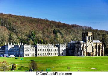 Milton Abbey and private School at Milton Abbas Dorset