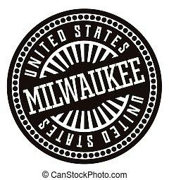Milwaukee black and white badge