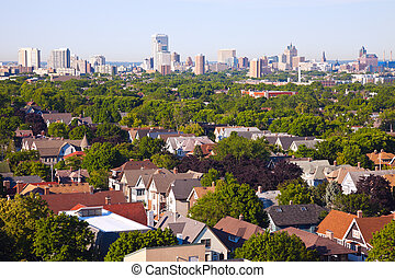 Milwaukee - city panorama seen from the north side
