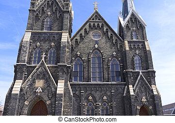 milwaukee, histórico, exterior, igreja