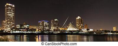 Milwaukee Skyline by Night