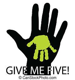 mim, cinco, dar