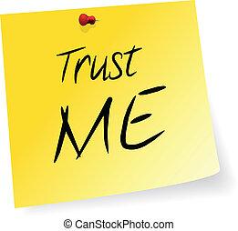 mim, confiança
