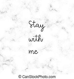 mim, lettering, cinzento, mão, fundo, branca, ficar, mármore