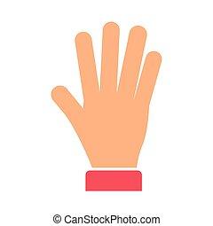 mim, mão, cinco, dar