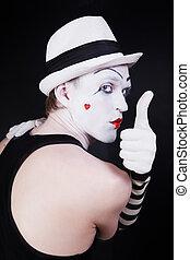 mim, makijaż, teatr, aktor