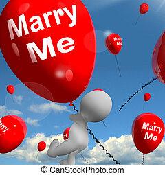mim, representa, amantes, casar, obrigação, proposta, balões