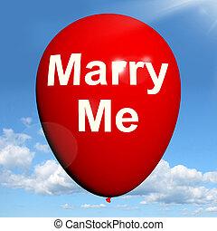 mim, representa, amantes, proposto, casar, obrigação, balloon