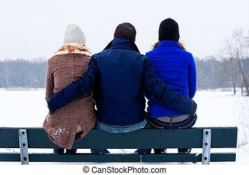 mim, wintertime, meu, namoradas