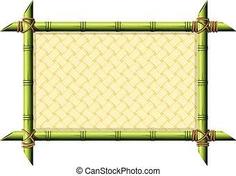 mimbre, bambú, marco, patrón