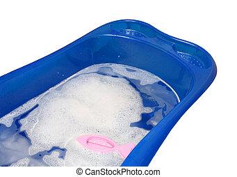 mime banheira, com, termômetro