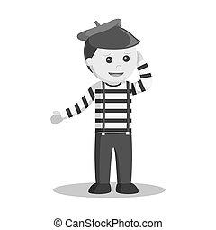 Mime confused illustration design