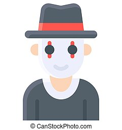 Mime costume icon, Halloween costume party - Mime costume, ...