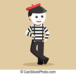 mime performing pantomime learning
