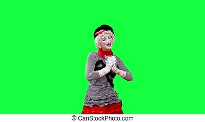 Mime Writes on the screen - Mime write on the screen what...