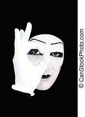 mimo, guantes blancos, retrato