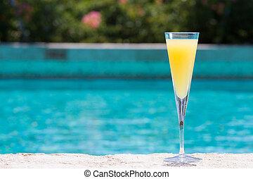mimosa, verre