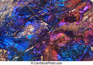 minéral, fond, chalcopyrite