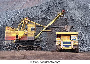 minéral minier, fer