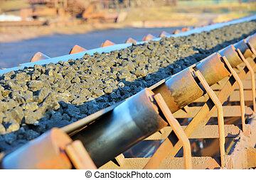 minério, transportador